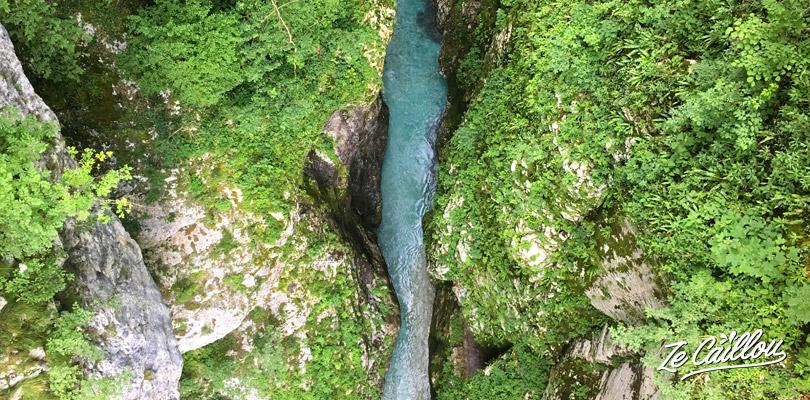 Les gorges de Tolmin au sud du parc national de Triglav en Slovénie.