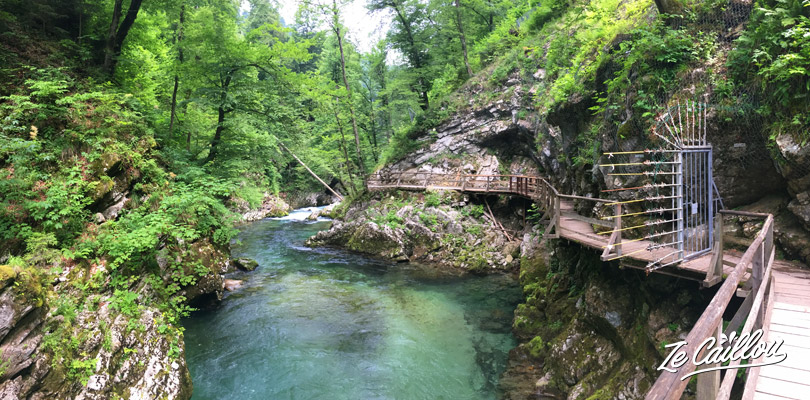 Vintgar gorges where still closed in June 2018 in the Bled village in slovenia.