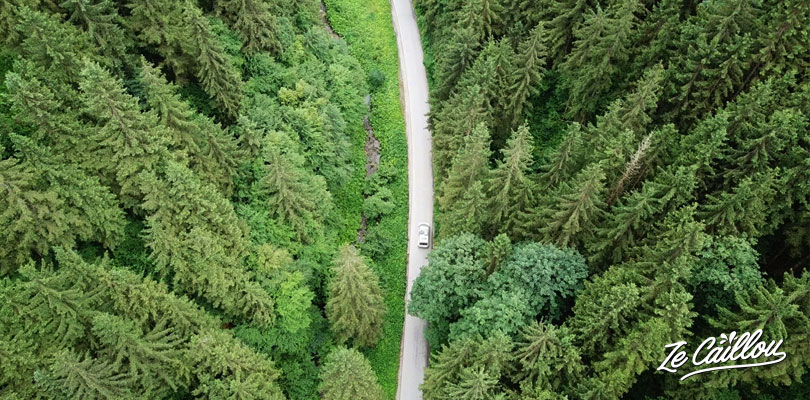 Drive through the Julian Apls during a roedtrip in Slovenia by campervan.