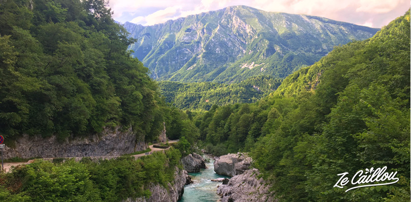 Enjoy nature on the Napoleon bridge in Kobarid when travelling in Slovenia by van.