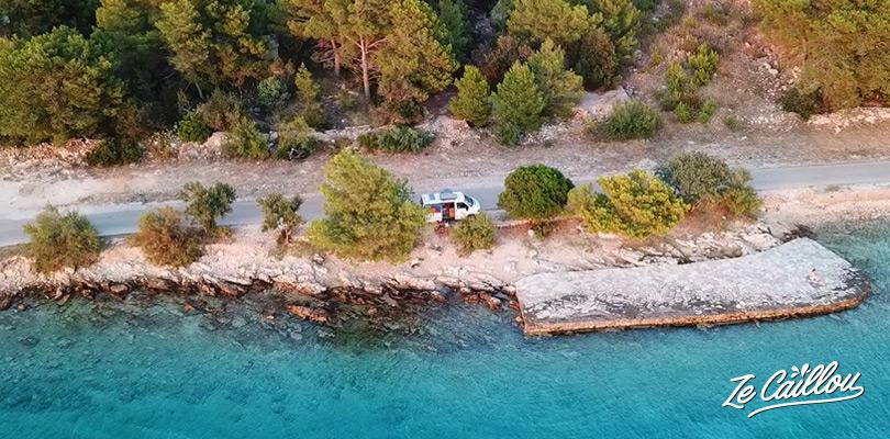 Visiter les îles croates en van aménagé, nos coups de coeur sur l'île de Brac.