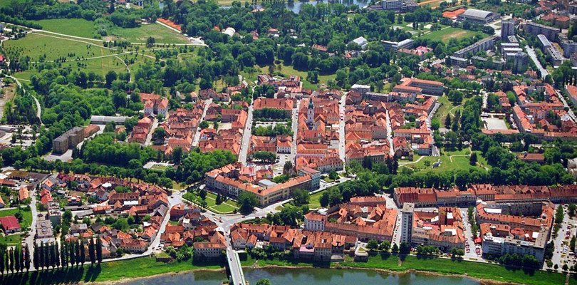 Visit the Karlovac town and drink the Croatian beer during a raodtrip in Croatia in campervan.