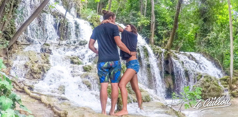 Visit the nice KRKA Park and its waterfalls during your roadtrip in Croatia in campervan.