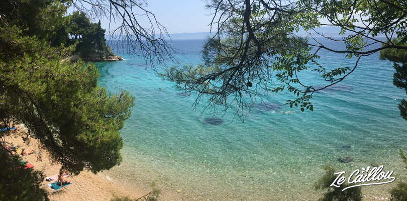 Beautiful beach at Bol, 2 steps from our van spot on this croatian island.