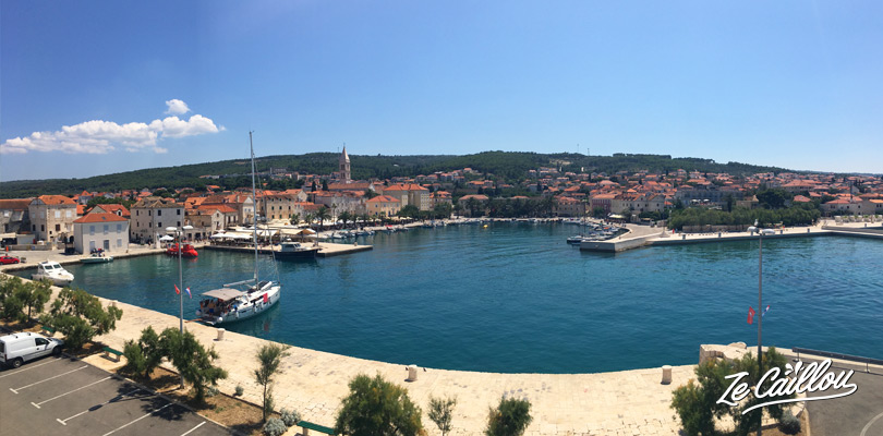 Sumartin harbour, small town of Croatia we discovered during our road trip in Brac with a van