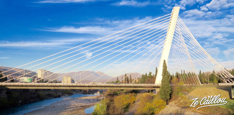 The Millenium Bridge in Podgorica, Montenegro capital.