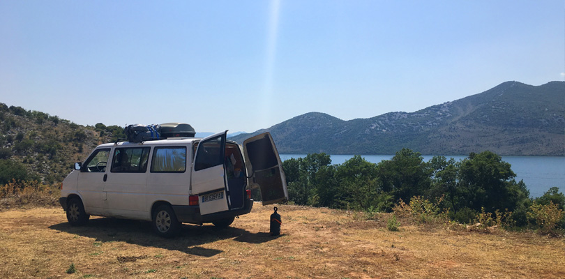 Great place with a campervan in the Skadar natural park in Montenegro.