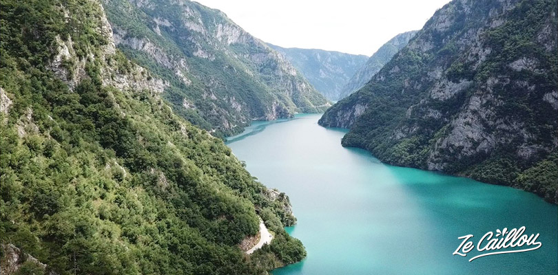 Great landscapes in Montenegro by van when driving along the Tara River.