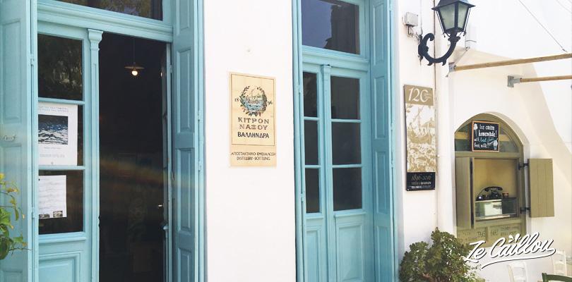 Distillerie de Kitron dans le village d'Halki dans le centre de Naxos en Grèce.