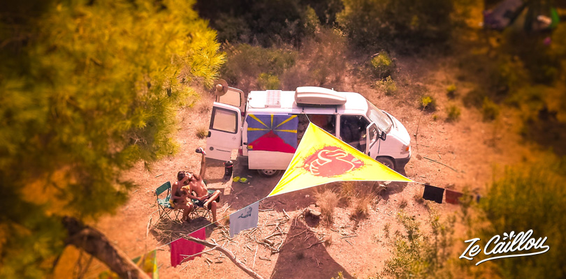 Beautiful hippie spot for some days in Peloponnese, in Greece with a van.