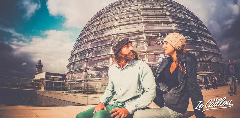 Visiter Berlin en van, prévoir au moins 3 jours à l'avance la visite, gratuite, du dôme du Reichstag.