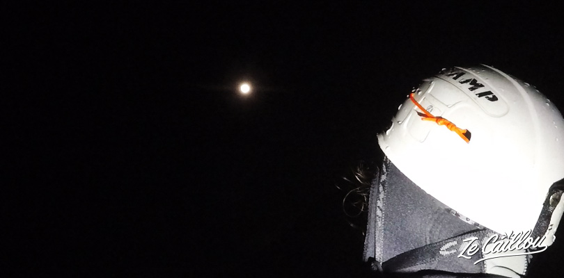A magical experience: canyoning at fleur jaune under the full moon.