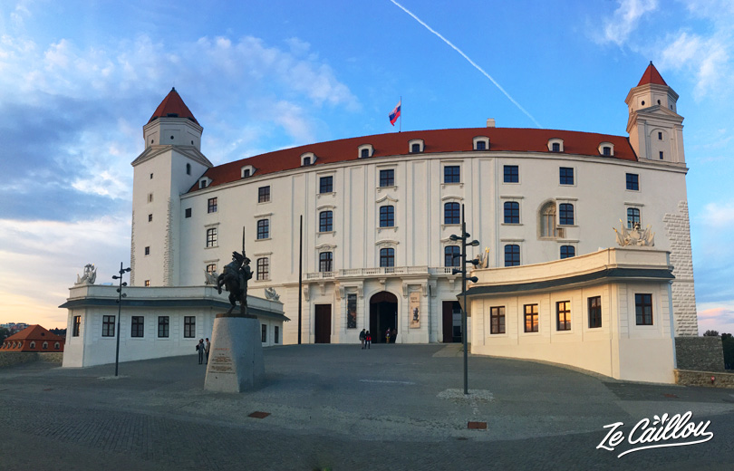 Discover Bratislava castle during in a road trip in Slovakia by van.