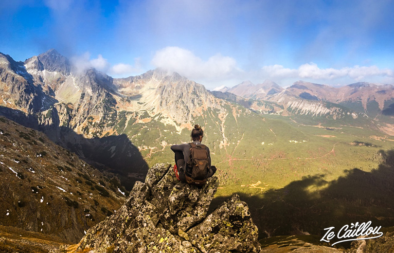 Hiking in Slovakia: wonderful view from one of Tatras Mountain' summit.
