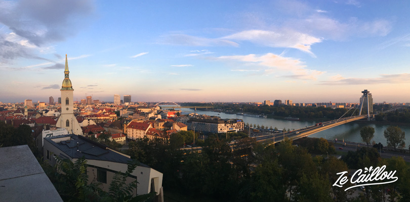The panoramic view from Bratislava castle, during our travel un Slovakia by van, nice!
