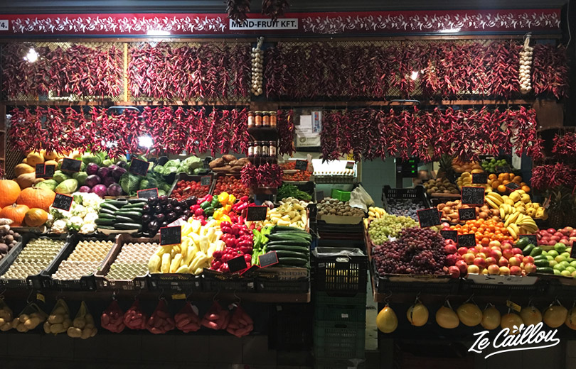 Buy food, delicatessen, or souvenirs of your trip in Hungary with a van at the central market.