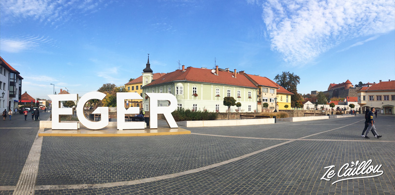 Visit Eger center town, a wine city, in the North of Hungary.