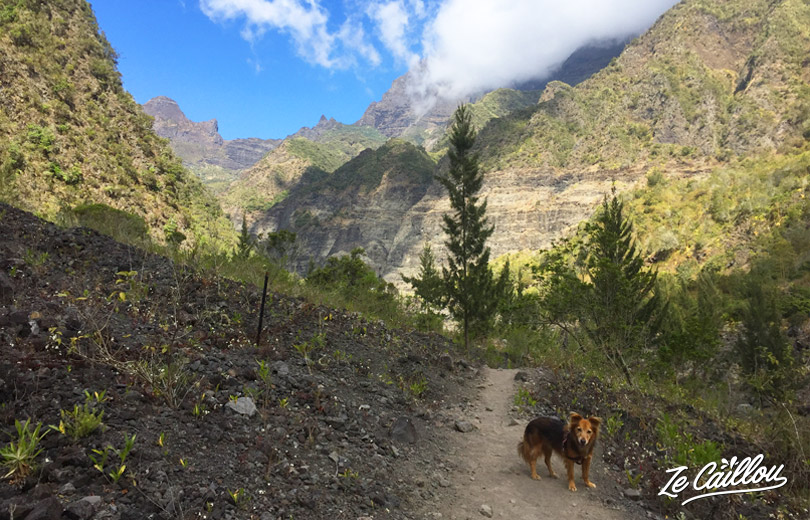 We leave Roches towards Marla, small village of Mafate in Reunion Island.