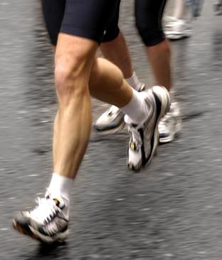 Running on concrete pavement