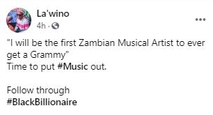 Lawino on winning a Grammy Award