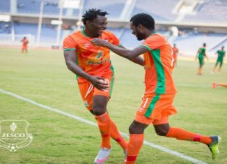 John Ching'andu score a brace against Eagles to help Zesco achieve 3-2 victory