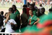 Female fans in the Zambian football league