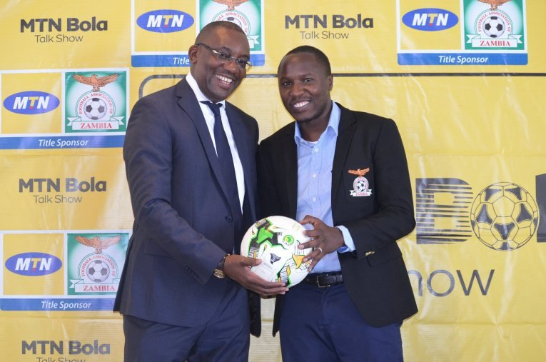 FAZ appoints Mungala to act as the FA communication boss. Here is Andrew Kamanga FAZ President pictured with Sydney Mungala