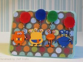 Goofy monster birthday card