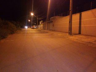 Rua em que aconteceu o crime