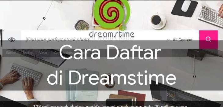 cara daftar di dreamstime