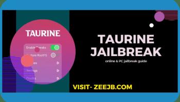 Taurine jailbreak online and PC installation guide