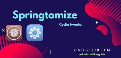 Springtomize online cydia tweak free