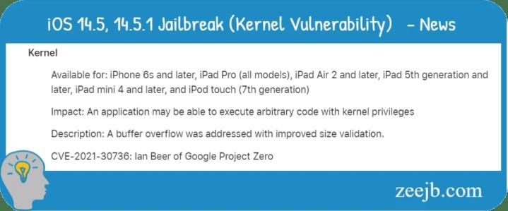iOS 14.5, iOS14.5.1, iOS 14.4 Jailbreak soon, New exploit on the way zeejb team