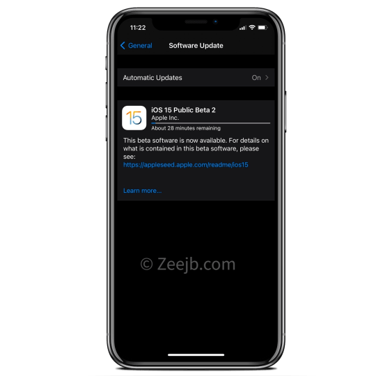 iOS 15.0 Dev Beta 2 (19A5281j) has been released How to download iOS 15