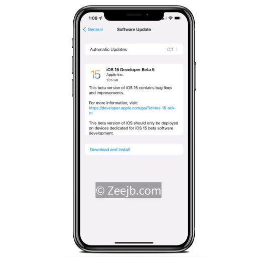 iOS 15 developer beta 5 released, how to download