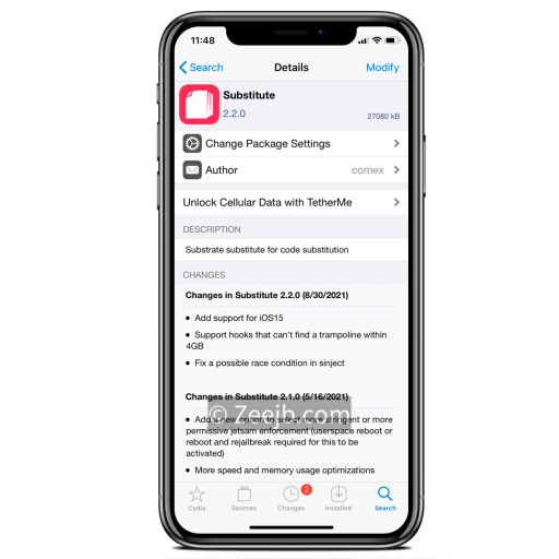 Substitute updated to v2.1.0