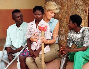 Princess Diana during one of her Redcross missions in 1997