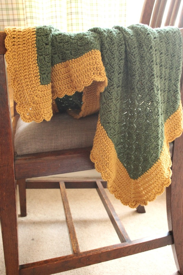Finished c2c crochet blanket.
