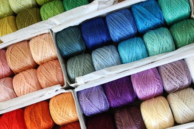 colourful thread.