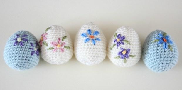 Amigurumi Easter eggs. Easy crochet pattern.
