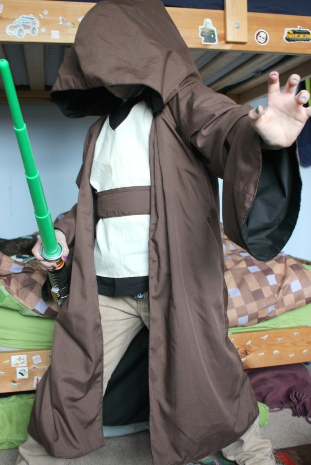 Homemade reversible Jedi Robes.