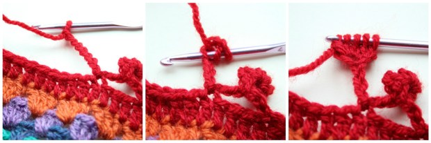How to make a crochet bobble edge. Tutorial.