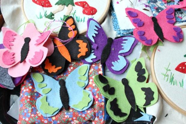 felt butterflies and stuff