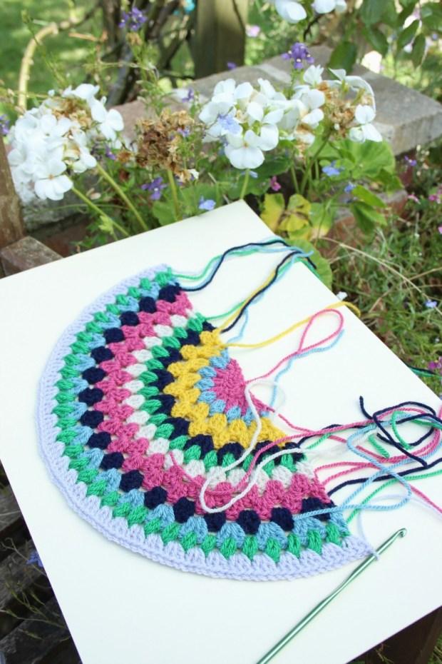 crochet half circle