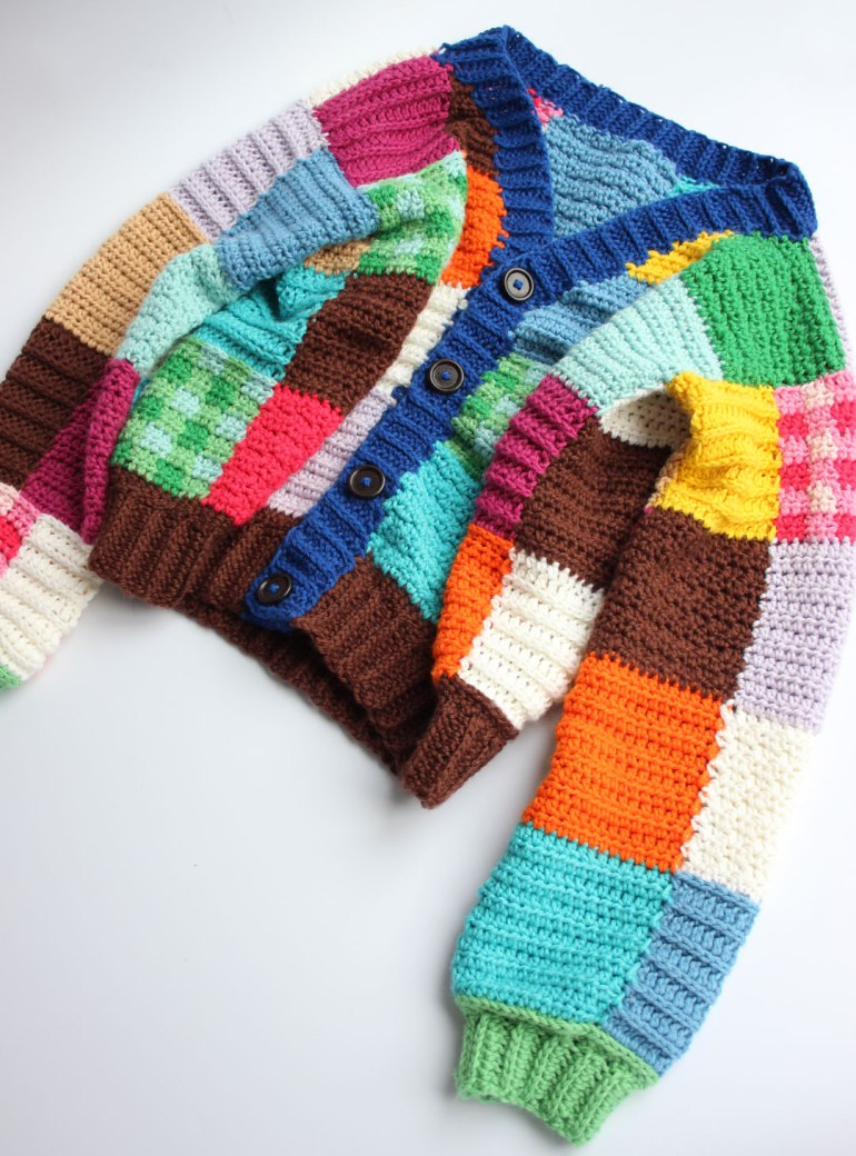 The best crochet cardigan. A JW Anderson inspired crochet cardigan.