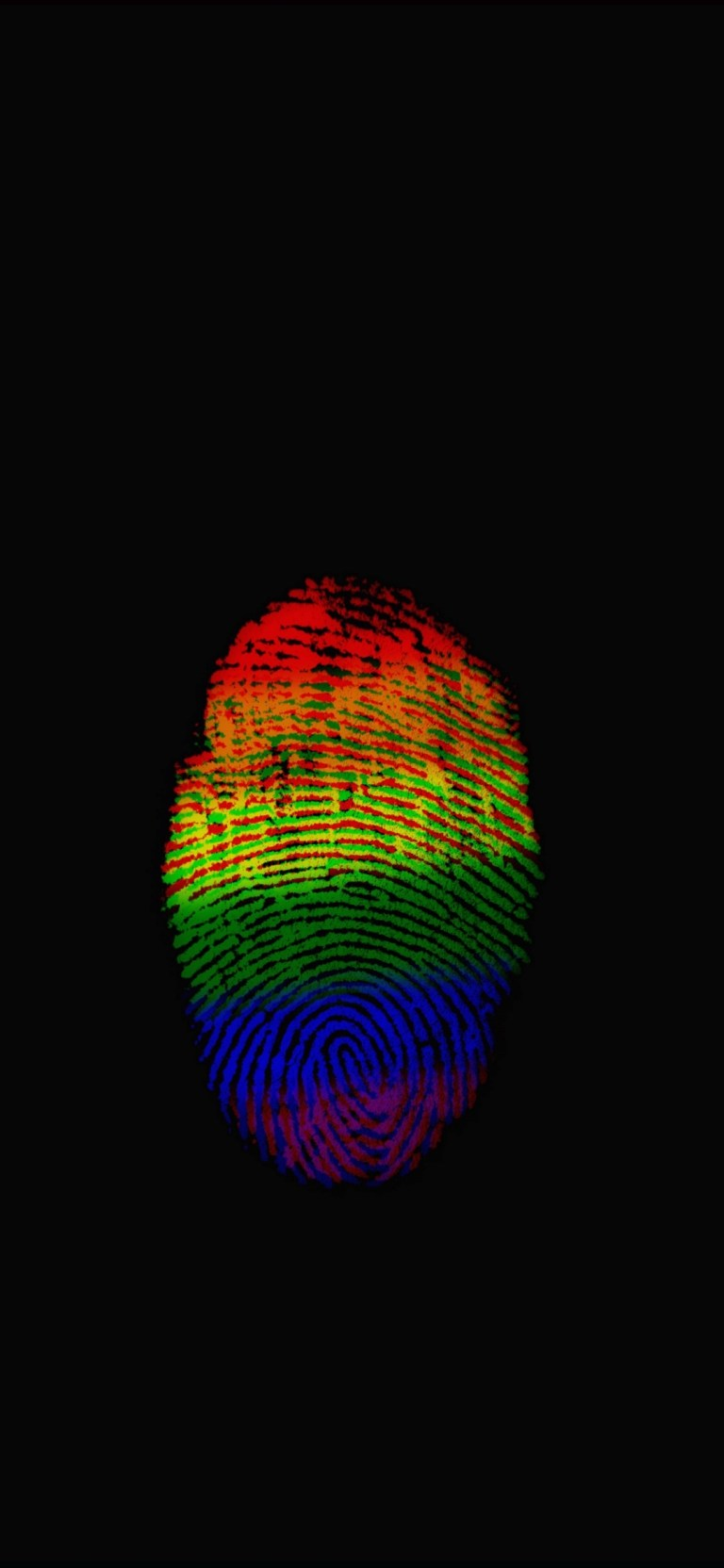 Rainbow Thumbs Fingerprint AMOLED Wallpaper For Samsung Galaxy