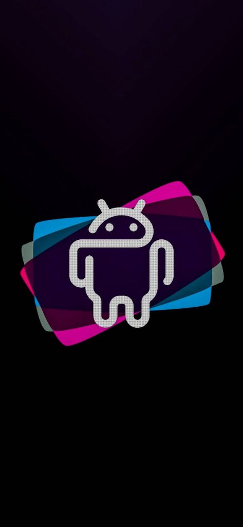Android Logo AMOLED iPhone Wallpaper 1080×2340