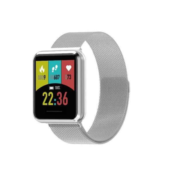 Q9 Smart Watch Blood pressure Metal Shell Waterproof Smart band Men & Women Silver