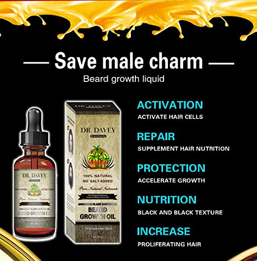 Dr. Davey Premium Beard Oil - All In One Conditioner & Softener - Ideal For Glamorous Beard Shine & Beard Growth 30 ML