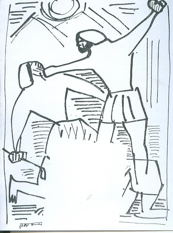משה מכה את המצרי - מתוך הספר.